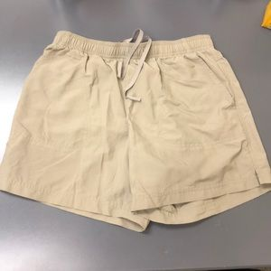 Columbia khaki shorts.     (A24)